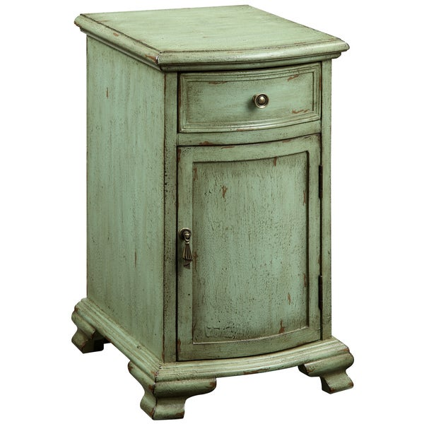 Creek Classics Weathered Green Chair Side Chest