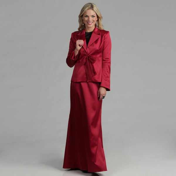 Issue New York Women's Red Evening Skirt Suit