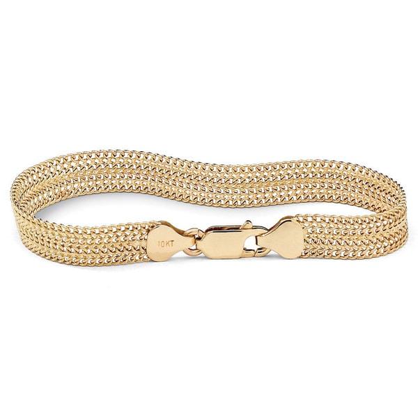 10k Gold 7.25-inch Tailored Mesh Link Bracelet