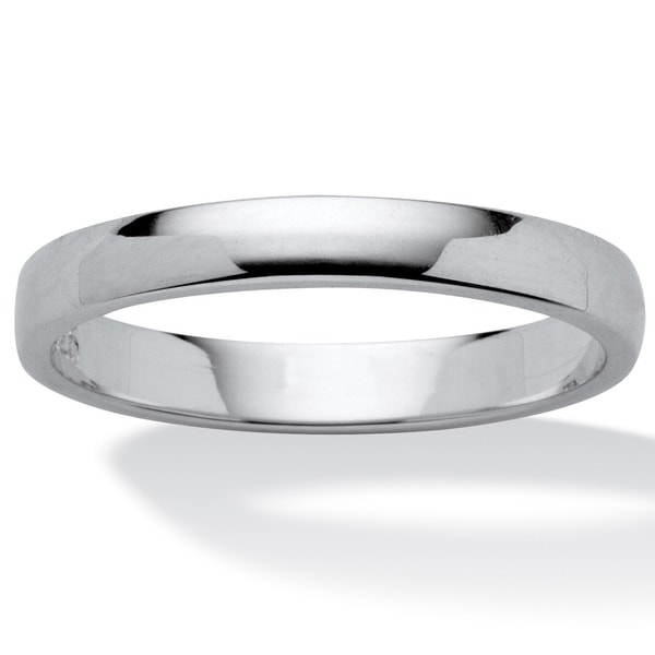 Polished .925 Sterling Silver Wedding Ring