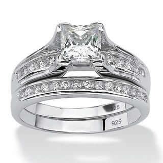 1.88 TCW Princess-Cut Cubic Zirconia Two-Piece Bridal Set in Platinum over .925 Sterling S|https://ak1.ostkcdn.com/images/products/7377885/P14837809.jpg?_ostk_perf_=percv&impolicy=medium