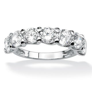 3.50 TCW Round Cubic Zirconia Wedding Band in Platinum Over .925 Sterling Silver Classic C