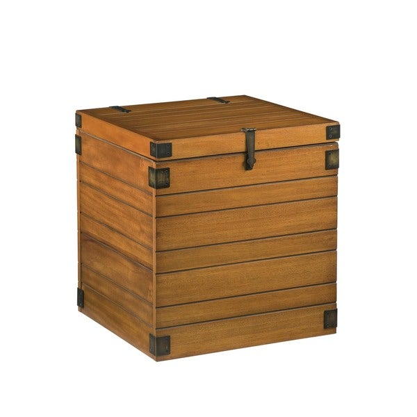 Small Honey Wood Plank Storage Chest