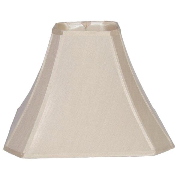 Cream Cut Corner Silk Square Shade