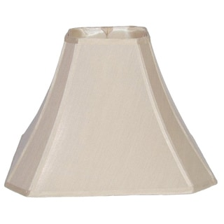 Cream Cut Corner Silk Square Shade