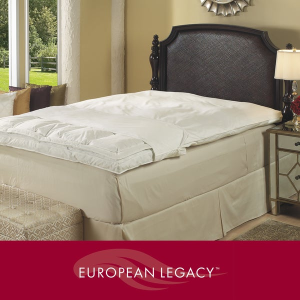 European Legacy 400 Thread Count Featherbed and Fiberbed Cover