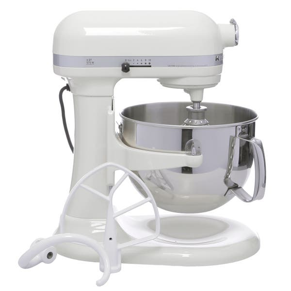 Shop KitchenAid Almond Cream RKP26M1XAC 6-quart Pro 600 Bowl ...