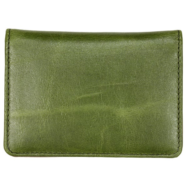 YL Fashion Leather Wallet, Credit Card Holder in Olive Design