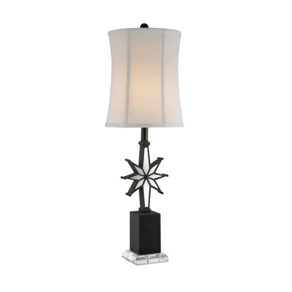 Black Star Mirror Table Lamp