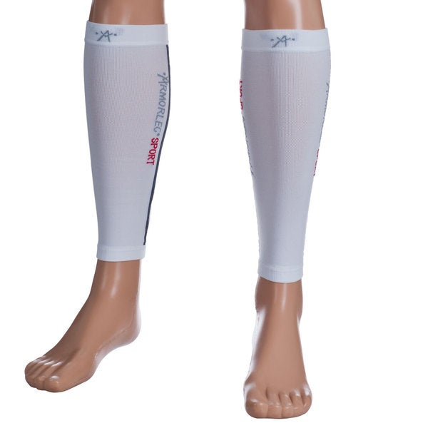 Remedy Calf Sport Compression Running Sleeve White Socks