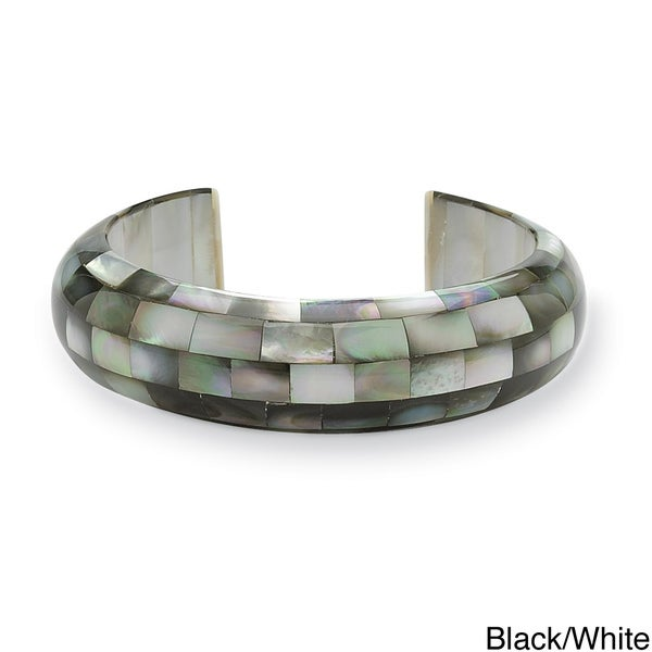 PalmBeach Mother of Pearl Cuff Bracelet Naturalist