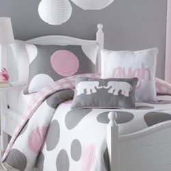 VCNY Big Believers Pink Parade 2-piece Twin-size Comforter Set