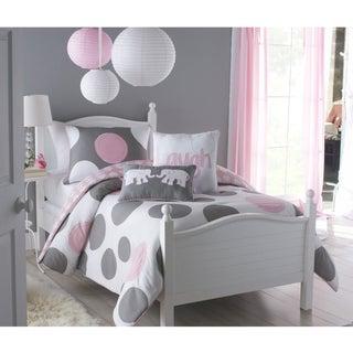 VCNY Big Believers Pink Parade Polka Dot 3-piece Comforter Set