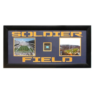 Chicago Bears Soldier Field Game Used Frame