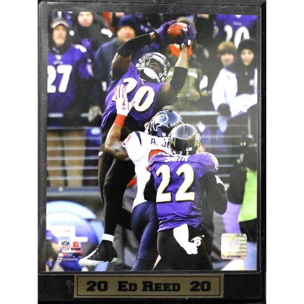 Baltimore Ravens Ed Reed Photo Plaque ( 9x12)
