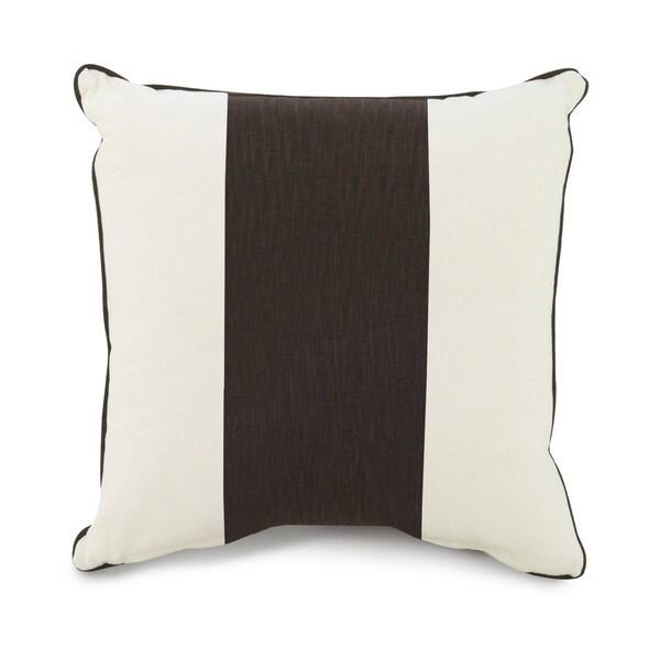 Oilo Corded Brown Stripe 18 x 18 Pillow