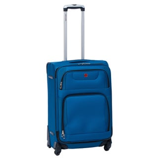 SwissGear SA7297 Blue 24-inch Expandable Spinner Upright Suitcase