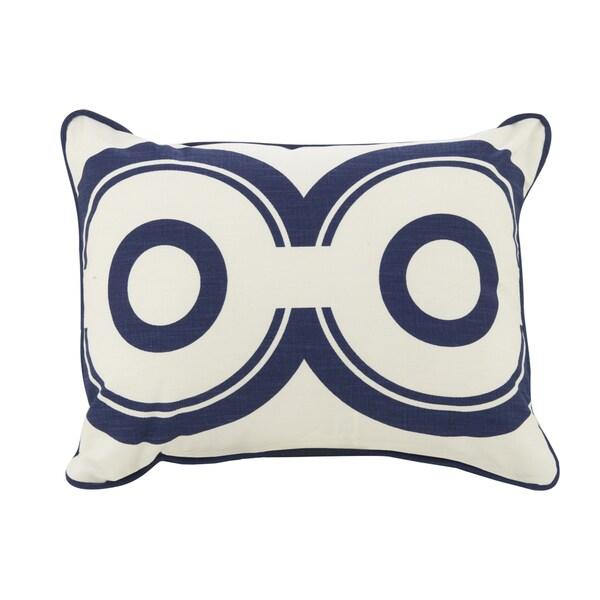 Oilo Cobalt Blue Wheels 13 x 17 Pillow