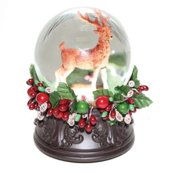 Good Tidings Deer Water Globe