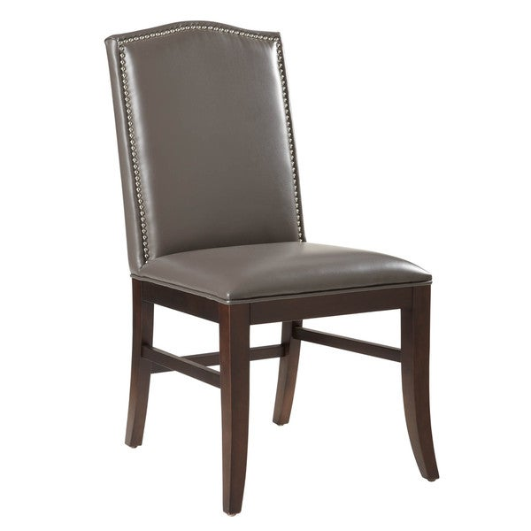 Sunpan '5West' Maison Grey Leather Dining Chair (Set of 2)