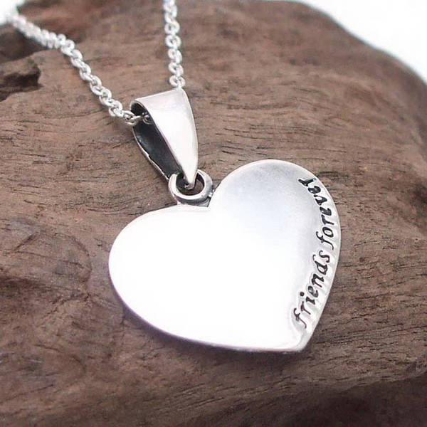 Handmade Sweet 'Friends Forever' Sterling Silver Necklace (Thailand)