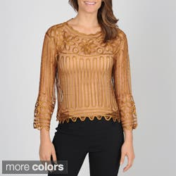 SoulMates Women's Hand Crafted Silk Top (cami not included)|https://ak1.ostkcdn.com/images/products/7378414/SoulMates-Womens-Hand-Crafted-Silk-Top-cami-not-included-P14838212.jpg?impolicy=medium