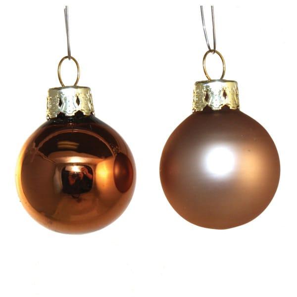 Bronzetone Festive Holiday Ornaments (Set of 21)