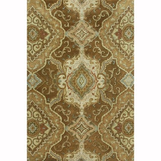 Hand-tufted Ferring Brown Wool Rug (9'3 x 13)