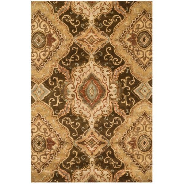 Hand-tufted Ferring Brown Wool Rug - 5' x 7'6
