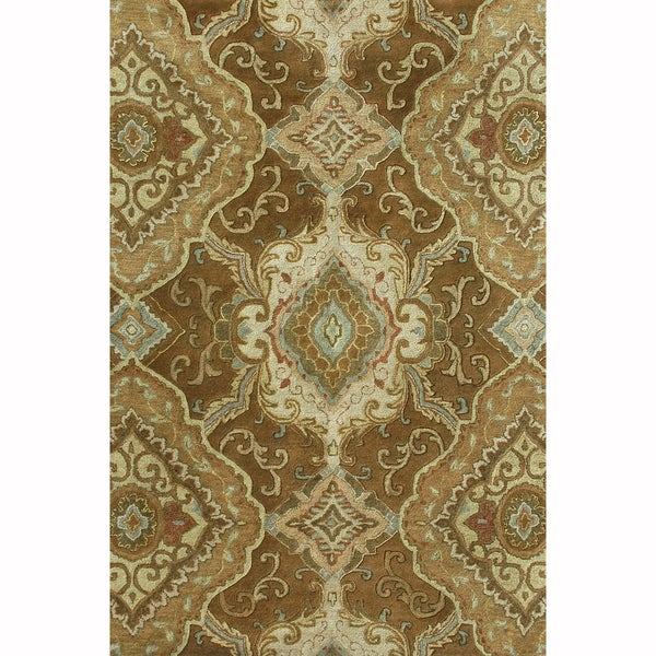 Hand-tufted Ferring Brown Wool Rug (7'10 x 11')