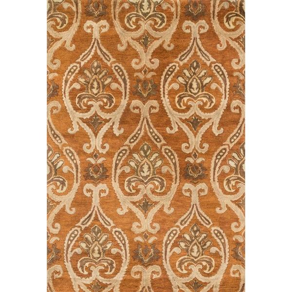 Hand-tufted Ferring Spice Wool Rug (5' x 7'6)