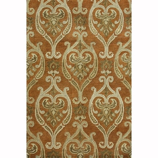 Hand-tufted Ferring Spice Wool Rug (7'10 x 11')