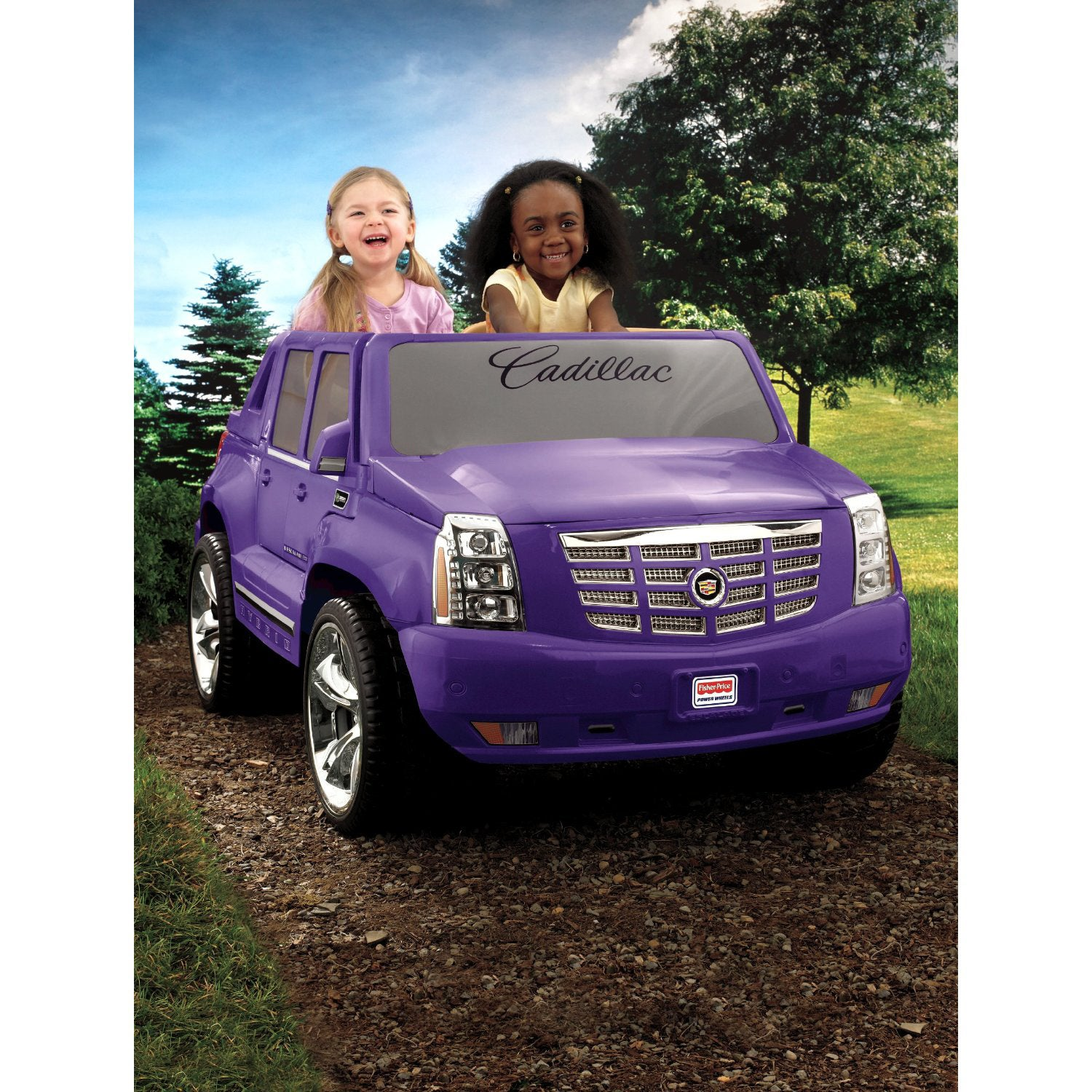 shop fisher price power wheels purple cadillac escalade overstock 7378569 fisher price power wheels purple cadillac escalade