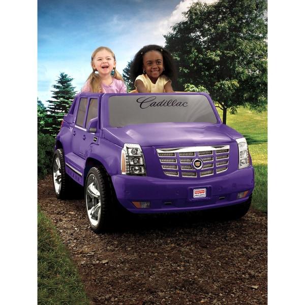 Shop Fisher Price Power Wheels Purple Cadillac Escalade