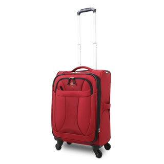 Wenger Deep Red Neolite 20-inch Lightweight Carry On Spinner Upright Suitcase