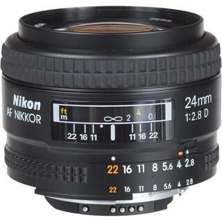 Nikon Wide Angle AF Nikkor 24mm f/2.8D Autofocus Lens (USA)