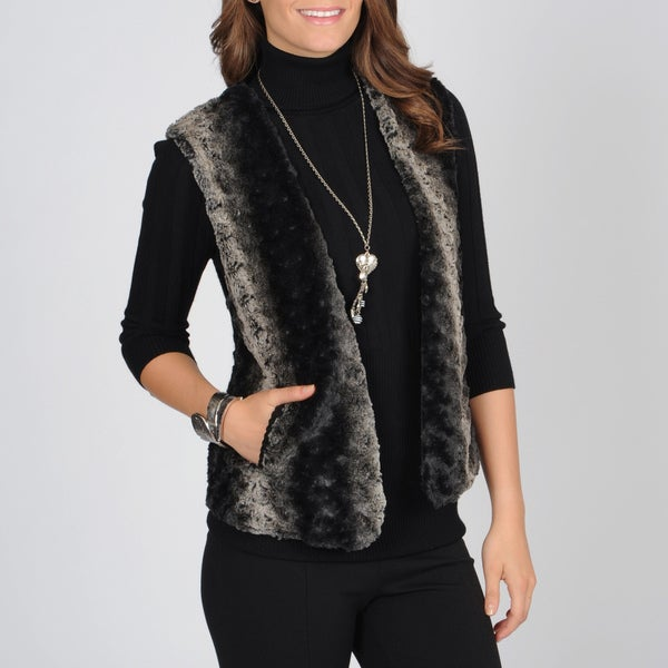 Grace Elements Women's Faux Fur Vest