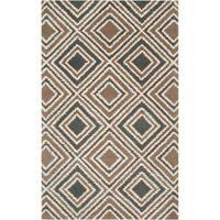 Hand-tufted Driscoll Geometric Diamond Wool Area Rug