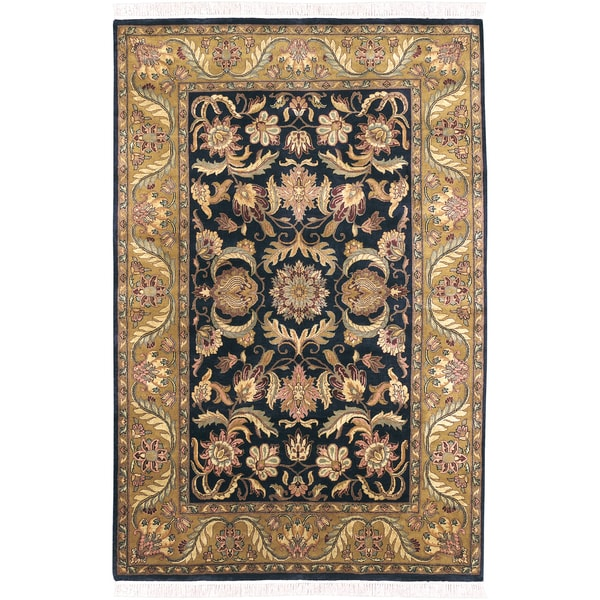 Hand-knotted Banderal Semi-worsted New Zealand Wool Rug (2' x 3')