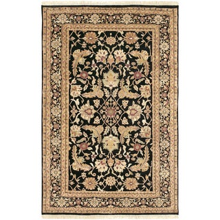 Hand-knotted Balonnette Semi-worsted New Zealand Wool Rug (2' x 3')