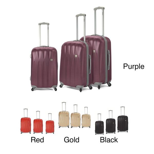 Benzi 3-piece Hardside Spinner Luggage Set