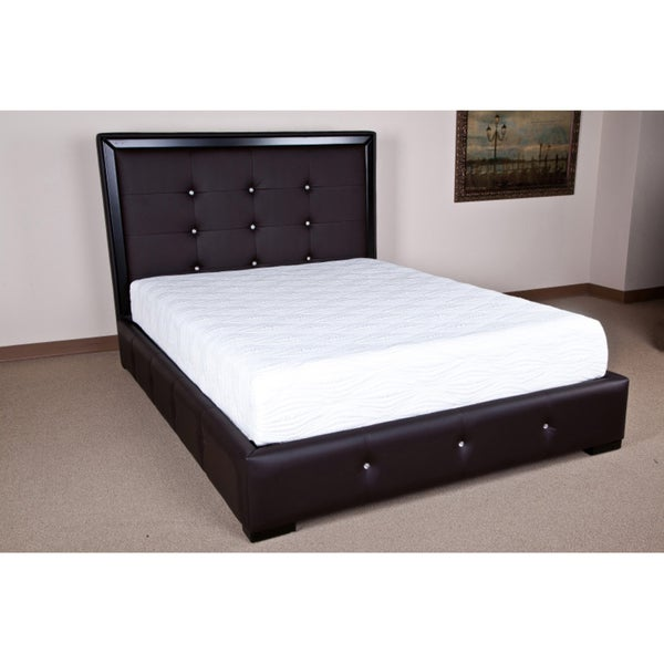 espresso cal king bed frame free shipping today 14838462. Black Bedroom Furniture Sets. Home Design Ideas