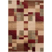Woven Colfax Geometric Patches Plush Area Rug (10' x 13')