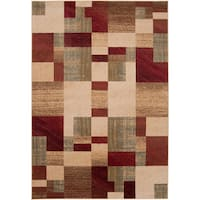 Woven Colfax Geometric Patches Plush Area Rug