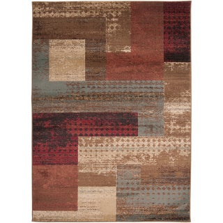 Woven Colma Geometric Patches Plush Rug