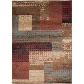 Woven Colma Geometric Patches Plush Area Rug (10' x 13')