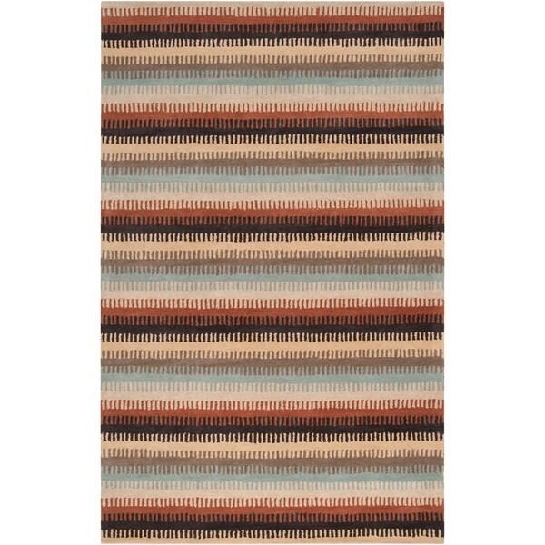 Dick Idol Hand-tufted Multi Stripe Southwestern Bermagui Wool Rug