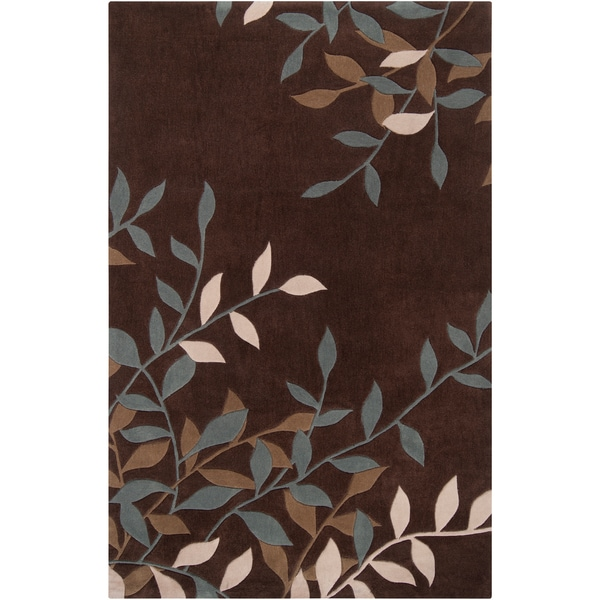 Hand-tufted Bishop Floral Plush Rug