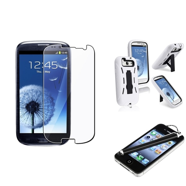 BasAcc Hybrid Case/ LCD Protector/ Stylus for Samsung Galaxy S III/ S3