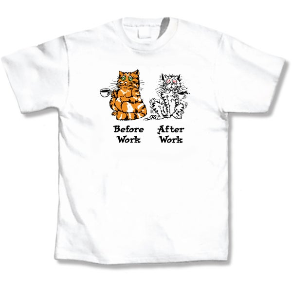 'Before Work After Work' Cat Lover's T-Shirt